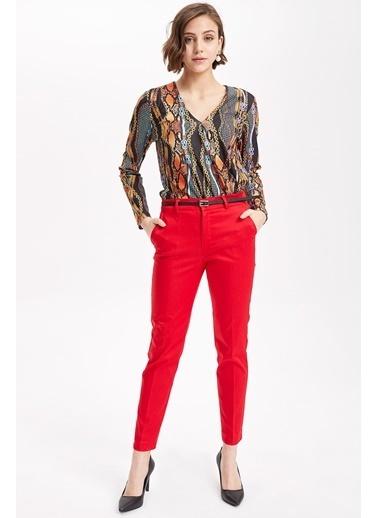 DeFacto Slim Fit Chino Pantolon Kırmızı